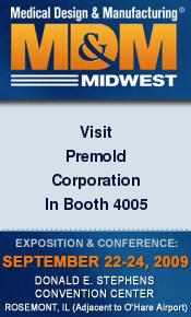 Premold exhibits at MD&M Midwest- Chicago. Opportunity to talk about your project (Complex geomety,  EMI coating, wall thicknesses, sub-assembly)